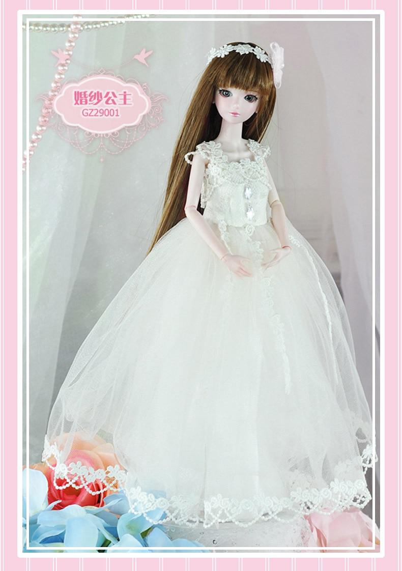 14 jointed très belle 29 cm 11 ''BJD poupée poupées princesse cheveux + maquillage + tissu + chaussures