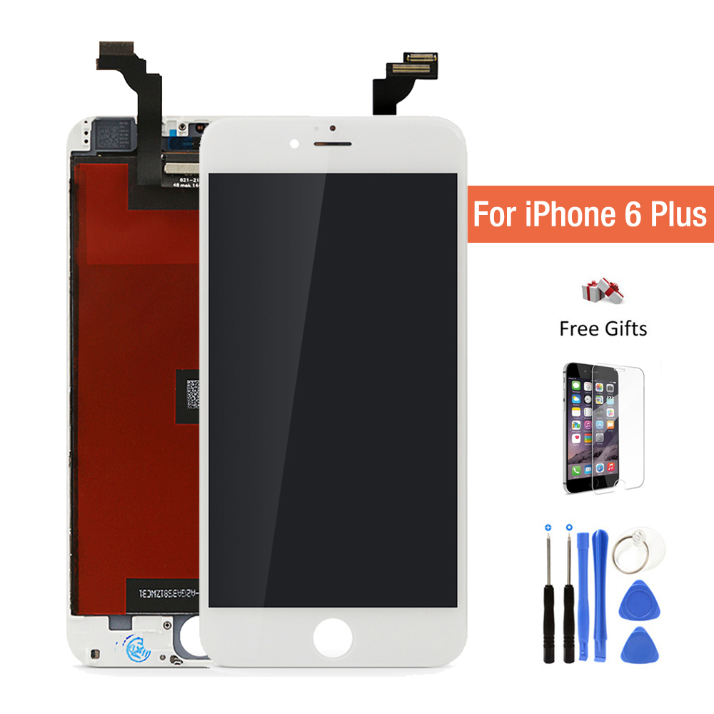 Grade AAA Quality LCD For iPhone 6 plus LCD 5.5 inch 6p 6+ Display Touch Screen Digitizer Assembly White/Black with kit tools 10pcs lot grade aaa pantalla black white for iphone 5c lcd display with touch screen digitizer assembly in stock free shipping