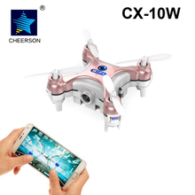 Cheerson CX-10W Drone 6 AXIS 4CH 2.4GHz Wifi APP Android Ios GYRO RC Nano Quadrocopter WIFI Camera 720P FPV Real Time Video