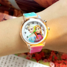 2019 Princess Children Watches Electronic Colorful Light Source Child Watch Girls Birthday Party Kids Gift Clock Childrens Wrist
