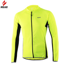ARSUXEO 2016 Outdoor Sports Cycling Long Sleeves Jersey Spring Summer Bicycle MTB Clothing Shirts Wear Bike