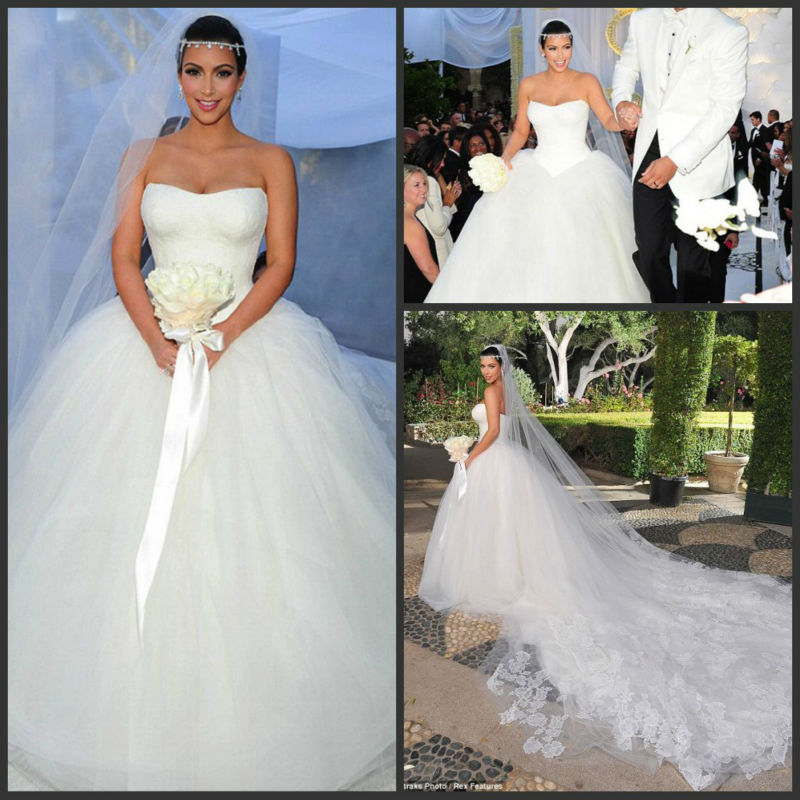 Wedding Ball Gowns 2014: 2014 New Design Luxury Lace Tulle Ball Gown Organza Kim