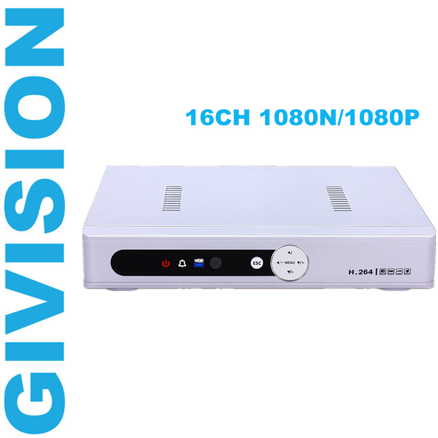 cctv ahd dvr nvr video recorder 16ch 1080N 1080P for hd analog ahd camera ip network surveillance digital dvr system hdmi 16 ch 1080n cctv dvr recorder h 264 hdmi network digital video recorder suit anolg ahd cctv camera for home security system
