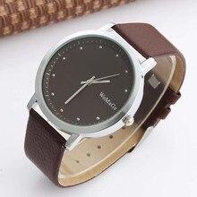 WOMAGE Fashion Unisex Watches Men Women Casual Watches Leather Strap Quartz Wristwatch relogio masculino relogio feminino