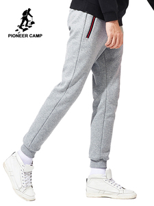 Image 1 - Pioneer Camp New thicken warm sweatpants men brand clothing casual winter fleece casual pants male quality 100% cotton AWK702321