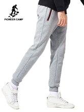 Pioneer Camp nowy zagęścić ciepłe spodnie dresowe mężczyzn marki odzież casual zima polar spodnie na co dzień spodnie męskie jakości 100% bawełna AWK702321