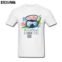 Cool For Guys Underwater Adventure New T Shirt Men Round Neck Short Sleeve T-Shirt New Arrival Male Wholesalers Personalised