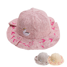 New Fashion Baby Hat for Girls Cotton Spring Summer Cap Modis Children Panama Hats Floral Girl 1PC