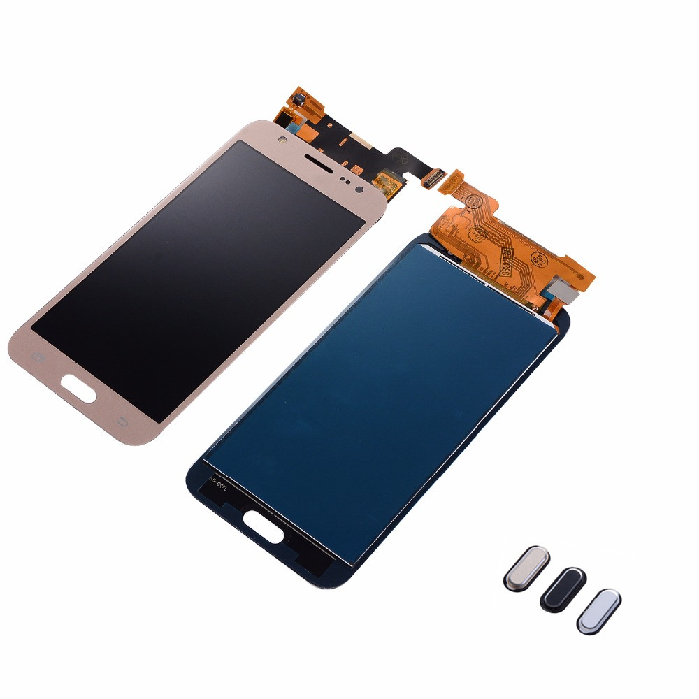 For Samsung Galaxy <font><b>J5</b></font> 2015 J500F J500FN J500M <font><b>J500</b></font> LCD <font><b>Display</b></font> Touch Screen Digitizer Assembly+Home Return Button+Adhesive image