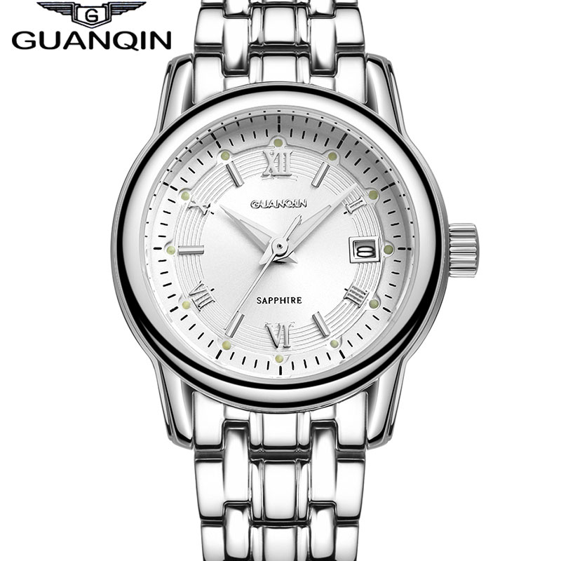 QUANQIN Fashion casual Women Quartz Watches Lady Luxury Brand Gold Watch Waterproof Business women Wristwatch Relogio Feminino swiss fashion brand agelocer dress gold quartz watch women clock female lady leather strap wristwatch relogio feminino luxury