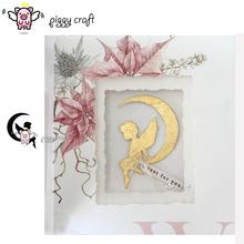 Piggy Craft metal cutting dies cut die mold Moon angel child Scrapbook paper craft knife mould blade punch stencils dies