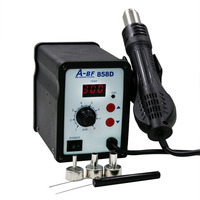 A BF858D 220V 700W Fan Type Hot Air Rework Station Air Soldering Station LED Digital Heat