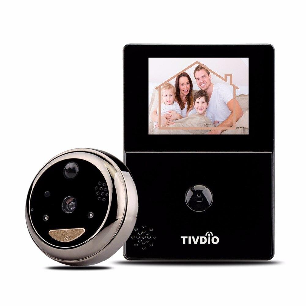 TIVDIO 2color WiFi Doorbell with Intercom 2 8 OLED HD Screen Monitor Door Viewer Front Door