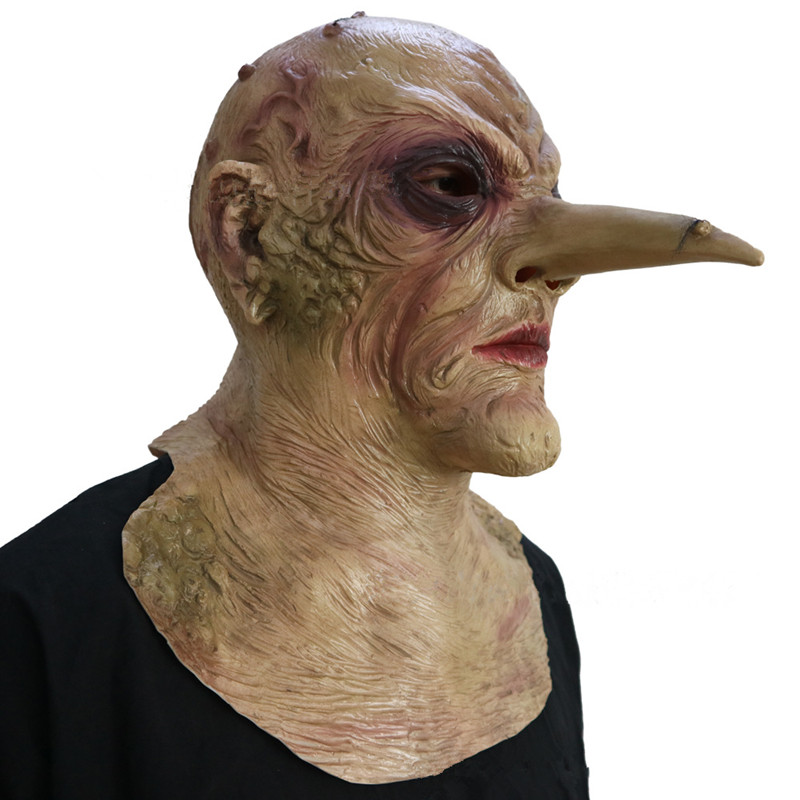 Halloween devil mask Evil Prop Long nose Old man Horror Horror mask Headgear Full Overhead eagle virus Zombie birds man eagle