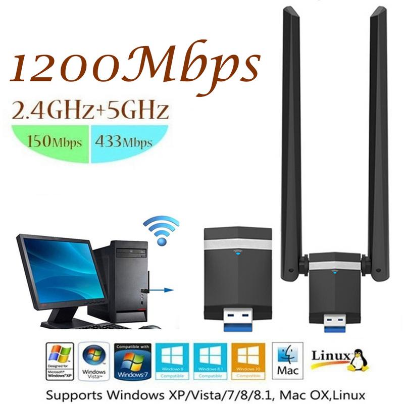 New Arrival 1200M Dual Band NIC RTL8812BU Solution USB3.0 high-speed Dual Band WiFi Game NIC Dropship 10.9