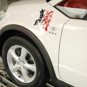 Pegatinas/calcomanías reflectoras para dibujos animados de Naruto de estilo de coche, animación de zorro para Chevrolet Cruze, Ford Focus, volkswagen, kia y mazda