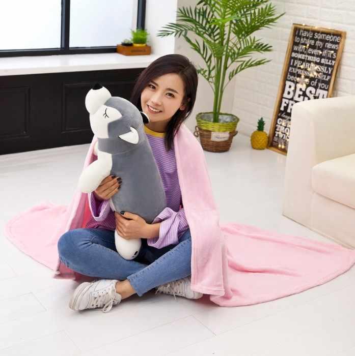 100 × 160 センチメートル漫画の動物ブランケットフランネル毛布枕クッションソファベッドの上で旅行スロー毛布マンタフリース毛布