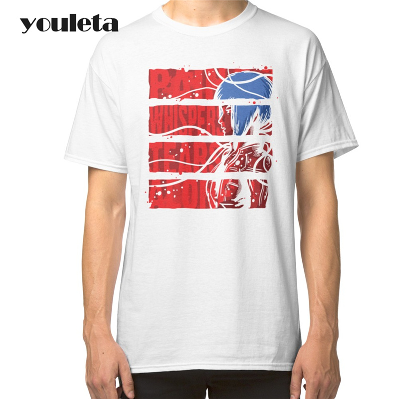 Fashion Ghost in the Shell T Shirt Men Short Sleeve Cotton Initial Shop T Shirts Ghost in the Shell Men Clothing Tops