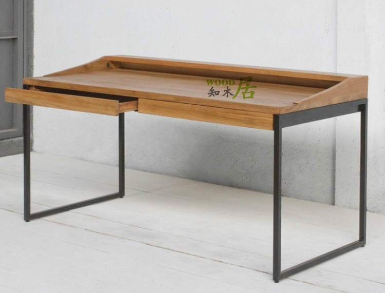 Genial American Country Furniture, Wood , Wrought Iron Desk Computer Desk In  Computer Desks From Furniture On Aliexpress.com   Alibaba Group