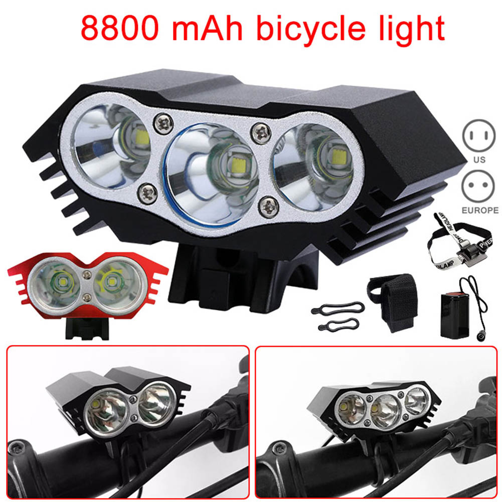 Bicycle Waterproof LED Flashlight Bicycle Accessories Headlight Bulbs Strong Light Rechargeable ALS88
