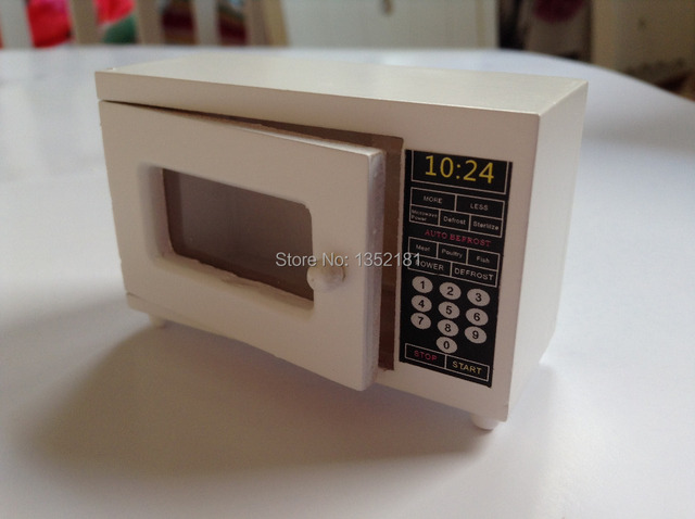 kitchen miniature pine table 1 12 cute dollhouse mini microwave oven in