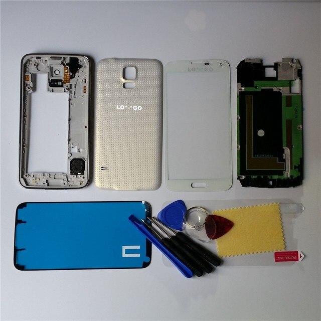 Оригинальный Телефон Случае Замена Полный Крышку Корпуса Чехол Дверь Задняя Крышка батарейного Отсека Чехол Для Samsung Galaxy S5 G900 I9600 Инструменты логотип