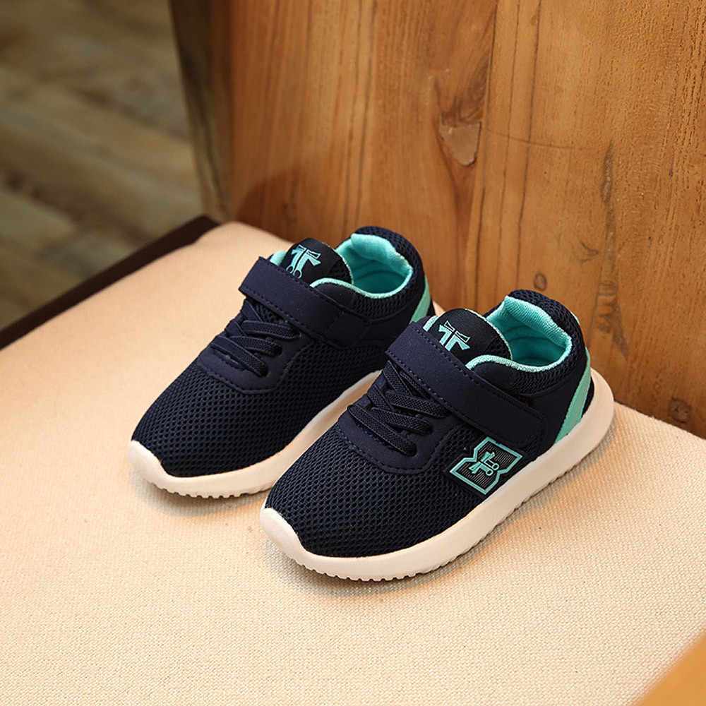 Kids Shoes Soft Chaussure Enfant Casual Sport Girls Shoes 2019 Spring Striped Kids Sneakers Breathable Children Shoes #XTN