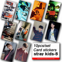 10pcs/set Stray kids KPOP photo cards stickers album sticky adshesive kpop lomo card photocard sticker SKD00605