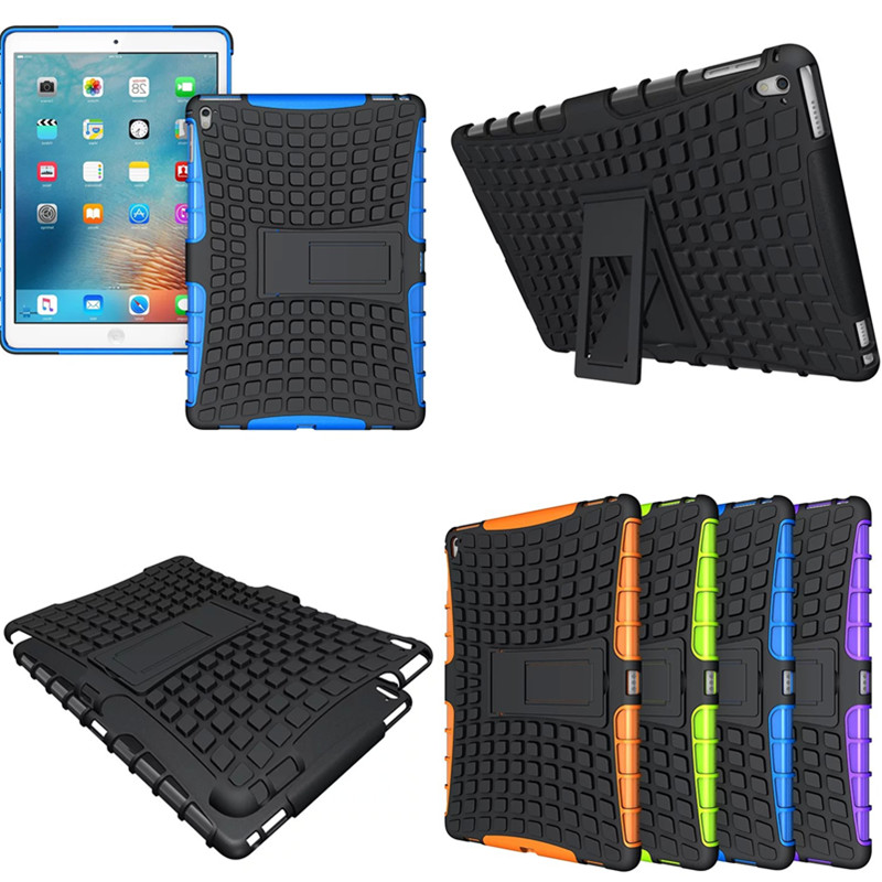 HH Case For New ipadpro 9.7 Hybrid Kickstand Rugged Rubber Armor Hard PC+TPU Cover Cases For Apple Ipad Pro 9.7 inch