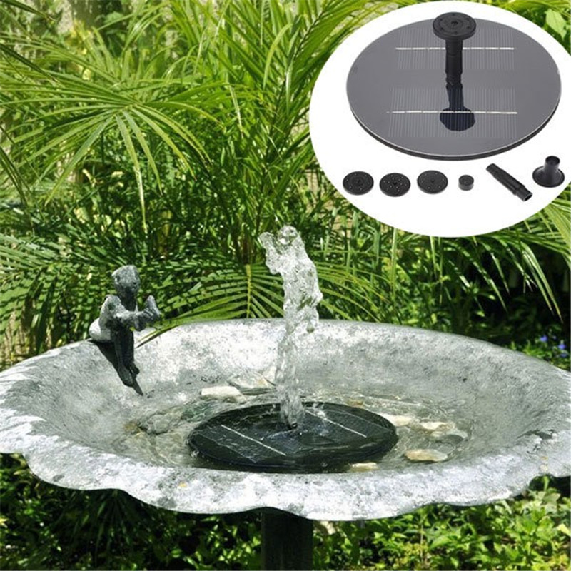 150L/H Floating Solar Power Fountain Panel Kit Garden Water Pump for Birdbath Pool Watering Wide Irrigation Pumps 8V 1.4W