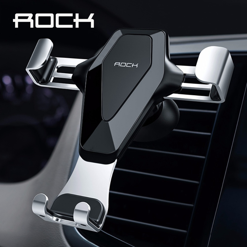 ROCK Gravity Air Vent Mount Holder for iPhone X XS MAX,Car Phone Holder for Phone in Car Mobile Phone Holder Stand for SamsungROCK Gravity Air Vent Mount Holder for iPhone X XS MAX,Car Phone Holder for Phone in Car Mobile Phone Holder Stand for Samsung