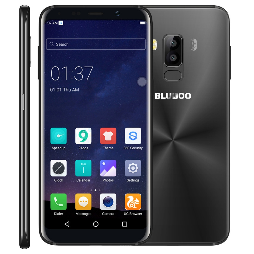 "Original Bluboo S8 Mobile Phone 5.7"" HD Screen RAM 3GB ROM 32GB MTK6750 Octa Core Android 7.0 Dual Cameras 3450mAh Smartphone"