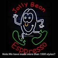 Jolly Bean Esppresso Handcrat Neon Sign BEEP Neon Bulbs Store Display Real Glass Tube Custom Free Design Handcrafted craft 19x15