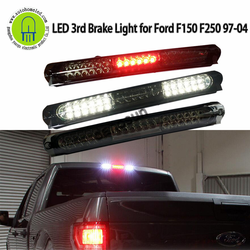 97 03 Ford F150 Cargo Lamp Smoke And Red Lens Rear LED 3RD Third Brake Light