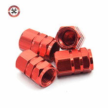 4pcs/set Aluminium alloy Car Tire Valve Caps Red Color Car Styling Tyre Stems Air Caps Auto Wheel Cover Tire Accessories