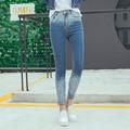 2016 Más Fresco Elasticidad Del Color del Gradiente Flaco Ripped Jeans Mujer Empuja Hacia Arriba Denim Pant Legging Más Tamaño Pantalones Vaqueros Calca Feminina