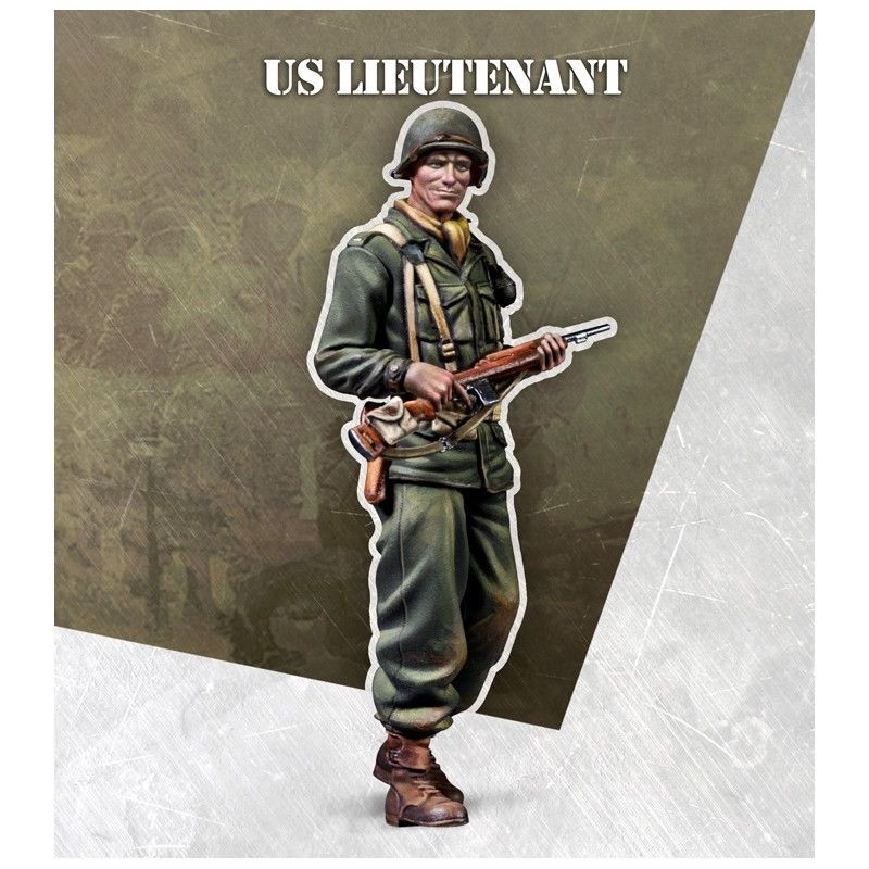 1/35 US Lieutenant Officer    Toy Resin Model Miniature Kit Unassembly Unpainted