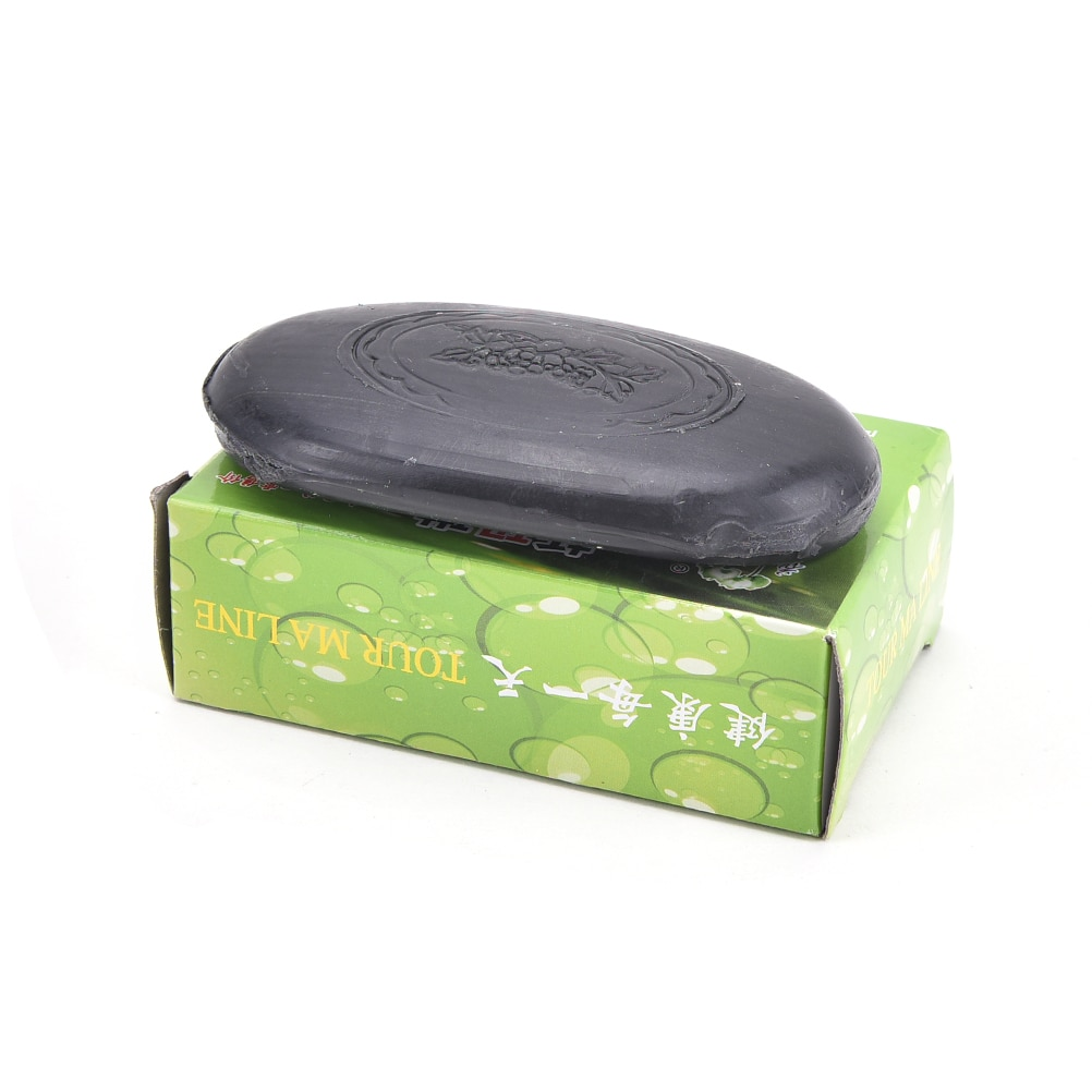 1Pc Active Energy Black Bamboo Charcoal Soap Face&Body Clear Anti Bacterial Lighten Freckles Beauty&Health Care Tourmaline Soap