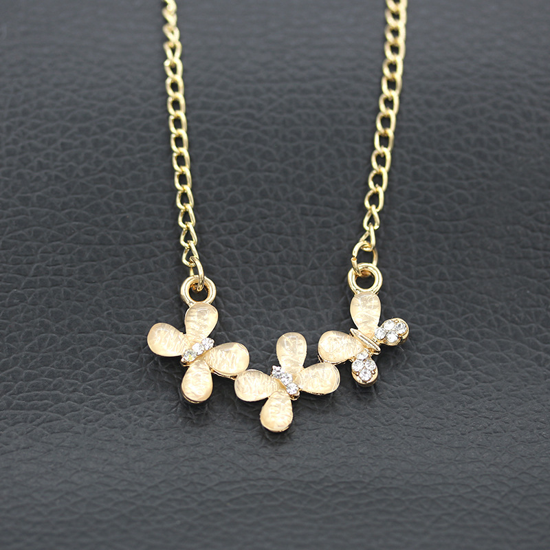 The new version of Crystal Flower Necklace Jewelry Gold jewelry wholesale