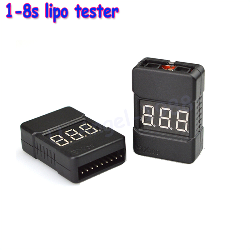 5pcs BX100 1-8S Lipo Battery Voltage Tester/ Low Voltage Buzzer Alarm/ Battery Voltage Checker with Dual Speakers 1pc bx100 1 8s lipo battery voltage tester low voltage buzzer alarm battery voltage checker with dual speakers
