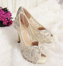 Mode Damen Satin Strass Peep Zehen Plattform Hochzeit Abendgesellschaft Kleid High Heels Schuhe Bankett sandale