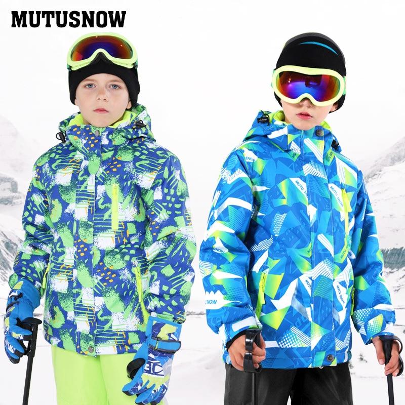 Dernier costume de Ski pour enfants hiver imperméable Super chaud coloré fille et garçon veste de Ski de neige et pantalon neige garçon vestes marques - 5