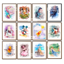 5D DIY Diamond painting Cross stitch Cartoon Full Square embroidery Mickey Mouse mosaic US Animation