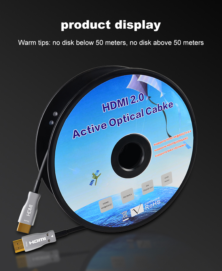 15HDMI 2.0 Cable Active Optical Cable Long Transmission Lossless 4K 60Hz for HD TV Projector PS4 20m 30m 50M 10M Fiber Optic HDMI