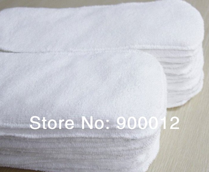 Top Quality Microfiber Cloth Diapers Insert 100 pcs 3 layers urine nappies Inserts insert free shipping