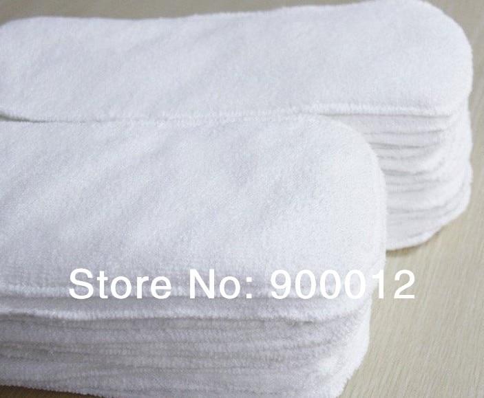 Высокое качество микрофибры Ткань Подгузники вставка-100 шт 3 слоя подгузники вставки