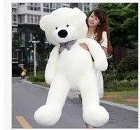 Stuffed animal huge 180cm white tie Teddy bear plush toy soft doll gift w1671