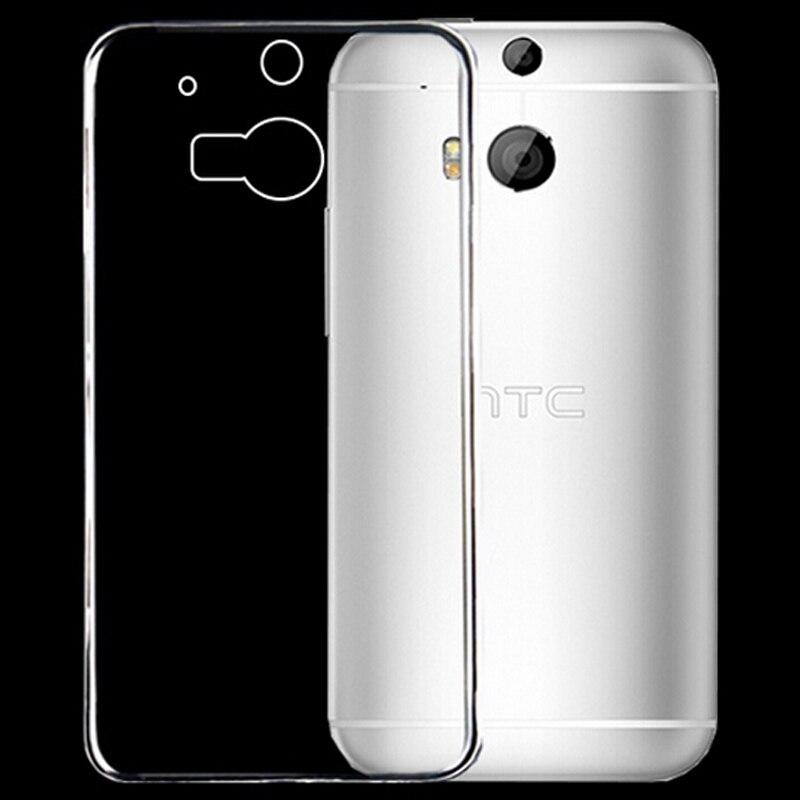 Новый 0.3 мм прозрачный ультра тонкий мягкий ТПУ Силиконовая сотовый телефон В виде ракушки задняя крышка кожи, чехол для HTC один m7 случае