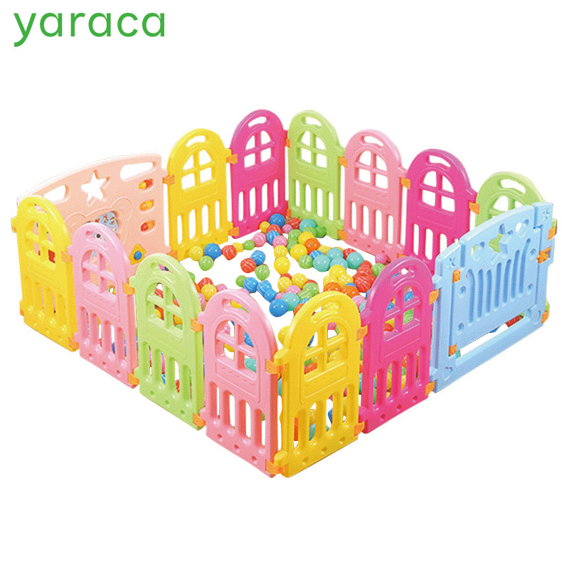 Baby Playpen Plastic Fencing For Children Indoor Game Play Yard Safety Barriers For Children Protector For Kids Pool Of Balls цены онлайн