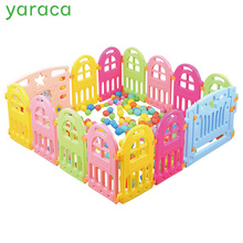 Baby Playpen Plastic Fencing For Children Indoor Game Play Yard Safety Barriers For Children Protector For Kids Pool Of Balls